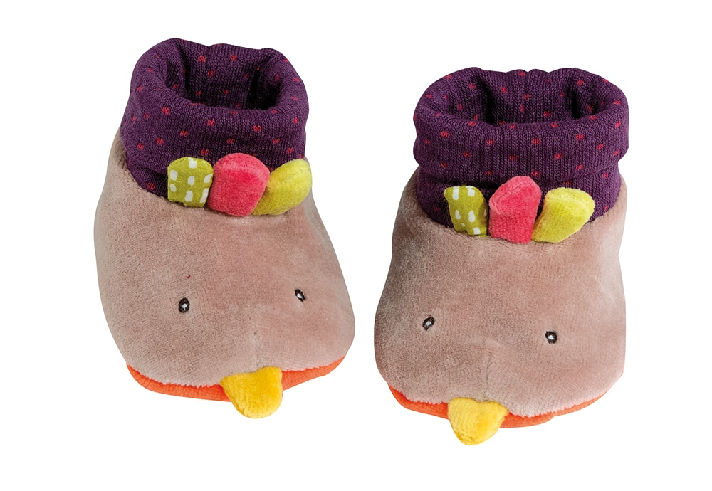 Les Cousins - Hen baby slippers