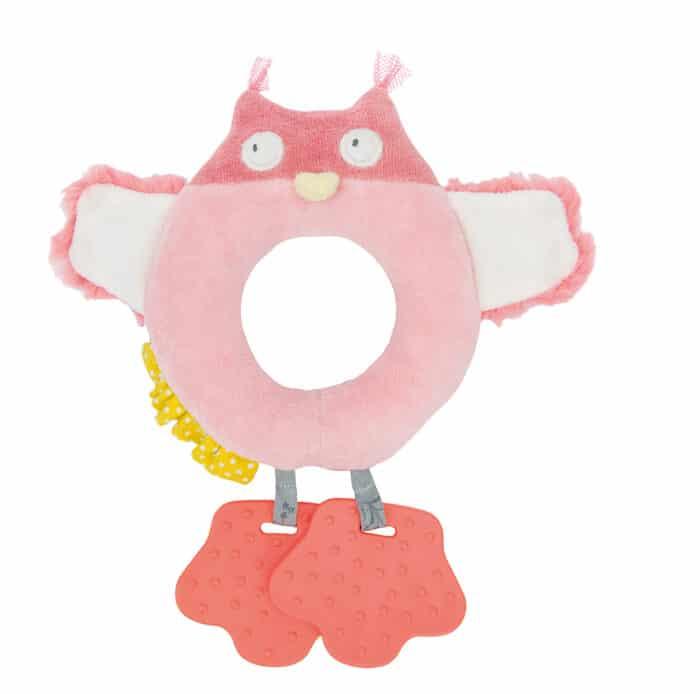 M'elle et Ribambelle - Owl ring rattle