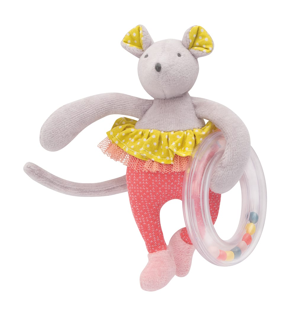 M'elle et Ribambelle - Mouse with ring rattle