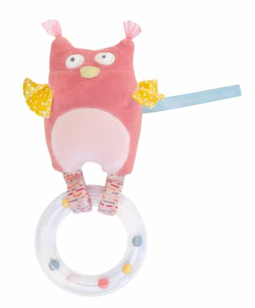 M'elle et Ribambelle - Owl with ring rattle