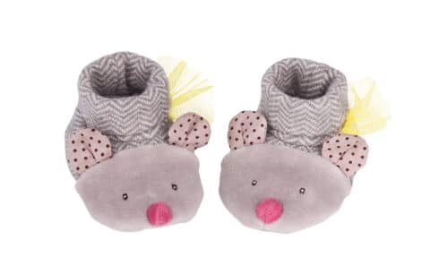 Les pachats - Grey mouse slippers