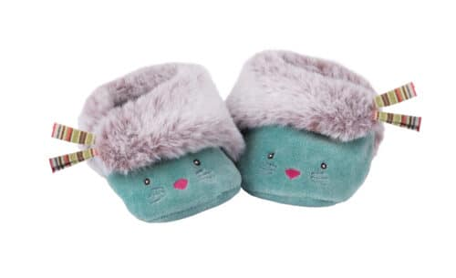Les pachats - Blue cat slippers