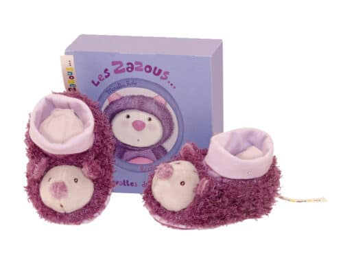 Les Zazous - Cat baby slippers