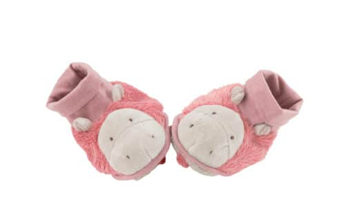 Les Zazous - Hippo baby slippers