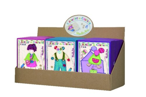 Les ateliers - Display with 9 assorted kits