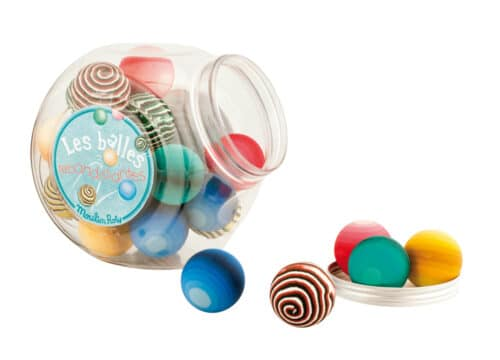 Les petites merveilles -Jar of 49 assorted bouncy balls
