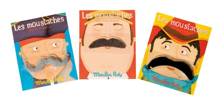 Les petites merveilles - Display of 21 assorted ' La moustache'
