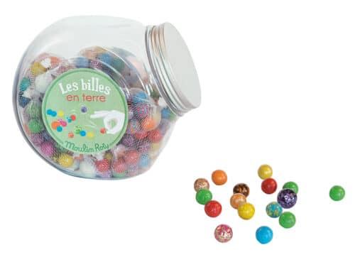 Les petites merveilles - Jar of 25 bags of earthenware marbles