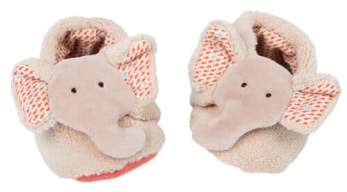 Les Papoum - Elephant baby slippers (0-6 mths)