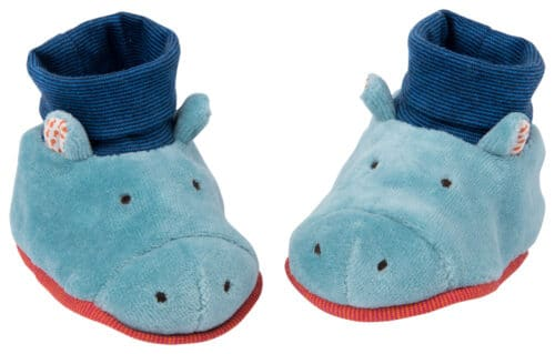 Les Papoum - Hippo baby slippers (0-6 mths)