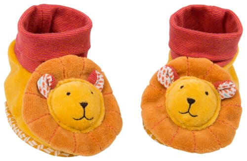 Les Papoum - Lion baby slippers ( 0-6 mths)