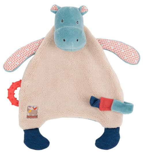Les Papoum - Hippo comforter with teether