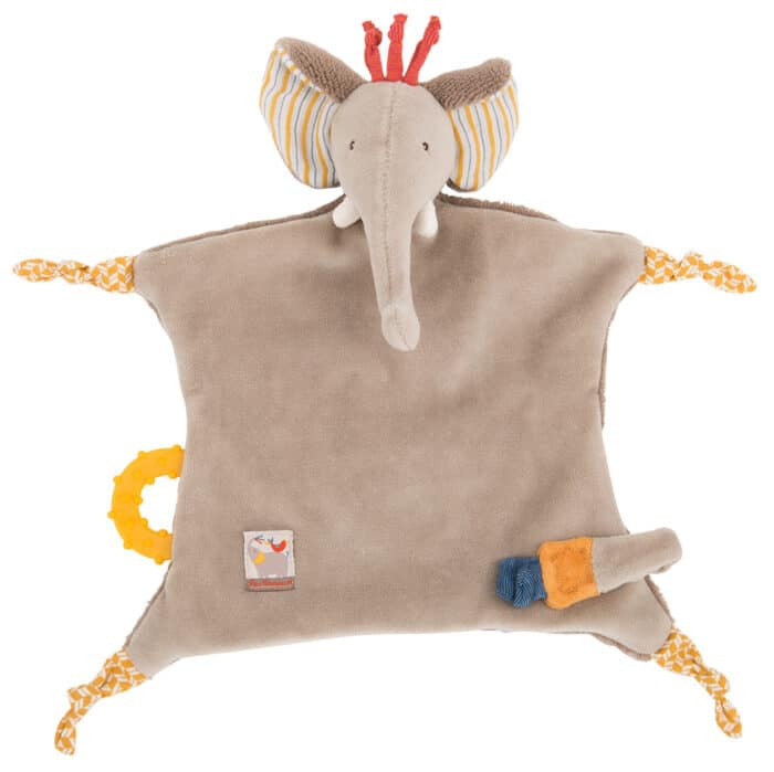 Les Papoum - Elephant comforter with teether