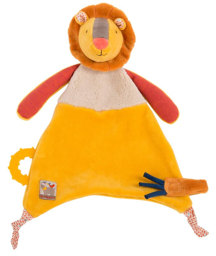 Les Papoum - Lion comforter with teether
