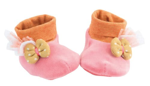 Les Tartempois - Pink baby slippers