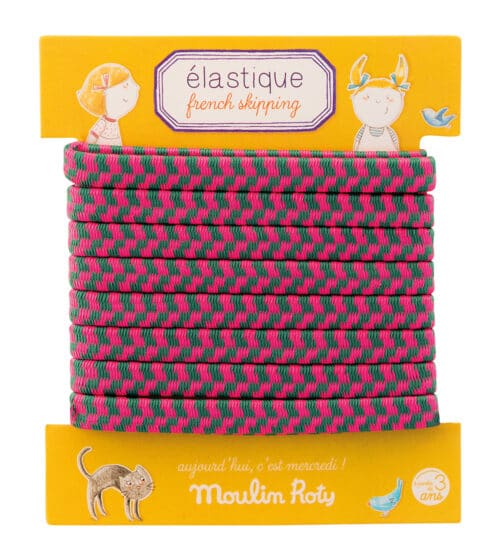 Aujouord'hui c'est mercredi - Display of 27 French elastics