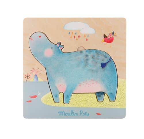 Les Papoum hippo puzzle