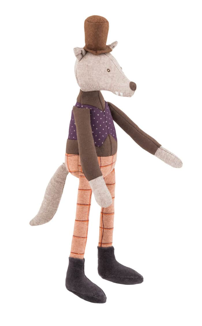 wolf doll, soft toy - Moulin Roty toys Australia