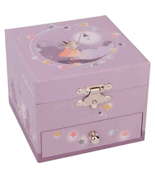 mauve musical jewellery box - Moulin Roty toys Australia