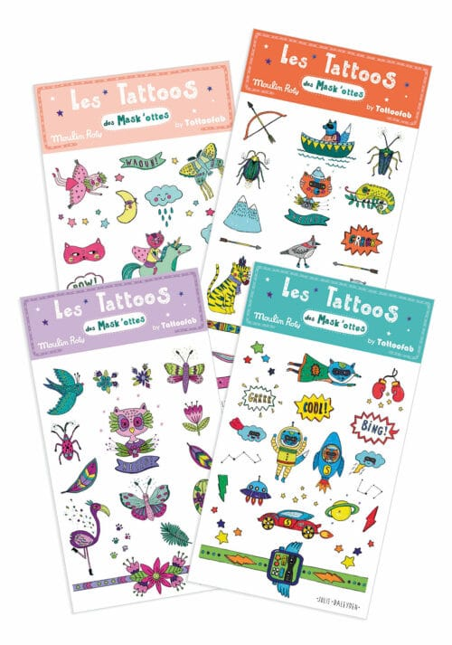 Set of tattoos - Moulin Roty toys Australia