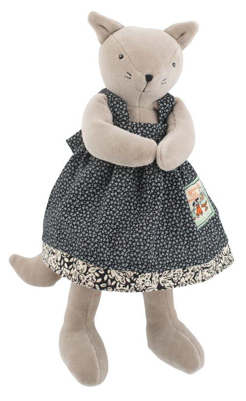 soft toys, plush toys, stuffed animals, little soft cat, cat soft toy, agathe, La Grande Famille, Moulin Roty toys Australia