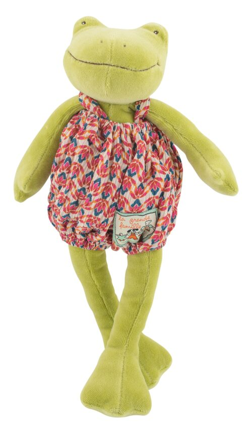 soft toy, plush toy, stuffed animal, soft frog, perlette, La Grande Famille, Moulin Roty toys Australia