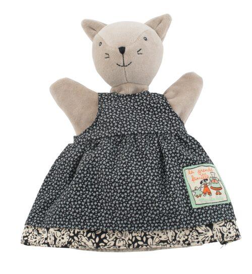 kids handpuppet, cat puppet, La Grande Famille, Moulin Roty toys Australia