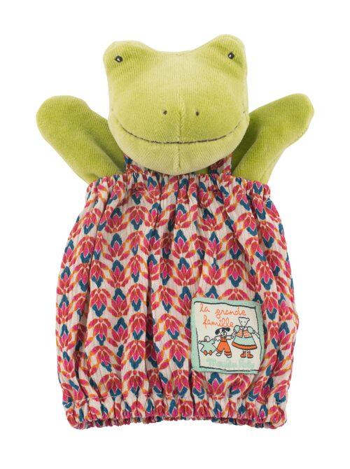 children's handpuppet, frog puppet, La Grande Famille, Moulin Roty toys Australia