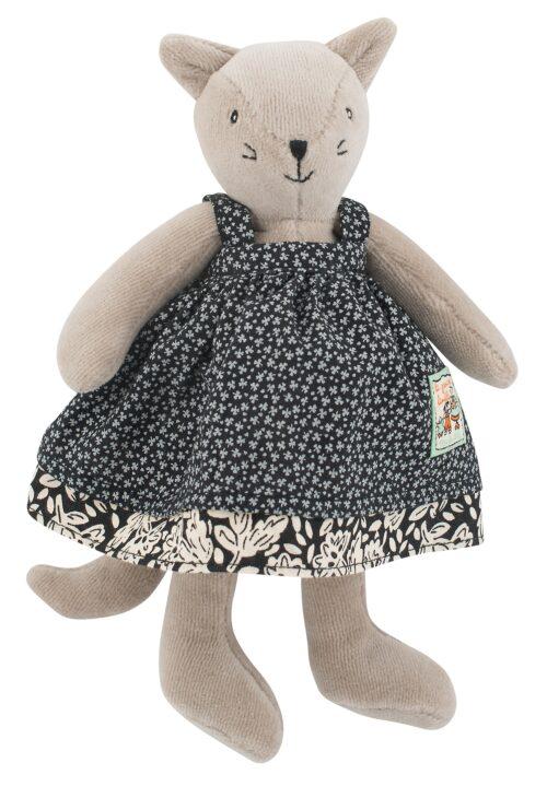 tiny cat, soft cat, soft toys, plush toys, stuffed animals, La Grande Famille, Moulin Roty toys Australia
