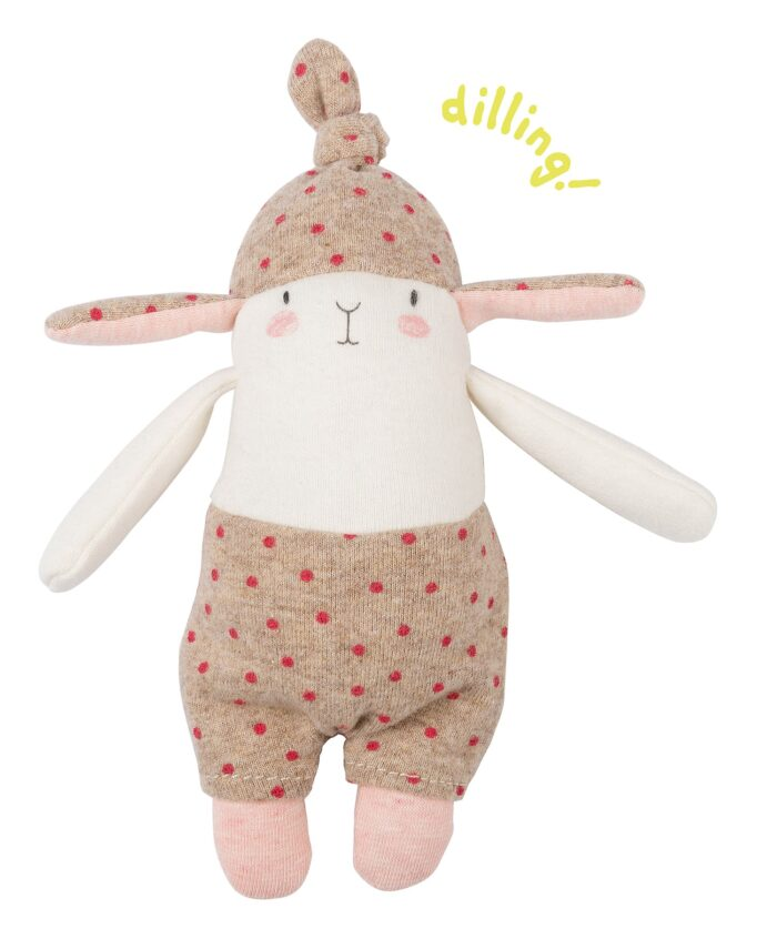 spotted baby rabbit rattle - les petits dodos - Moulin Roty toys Australia