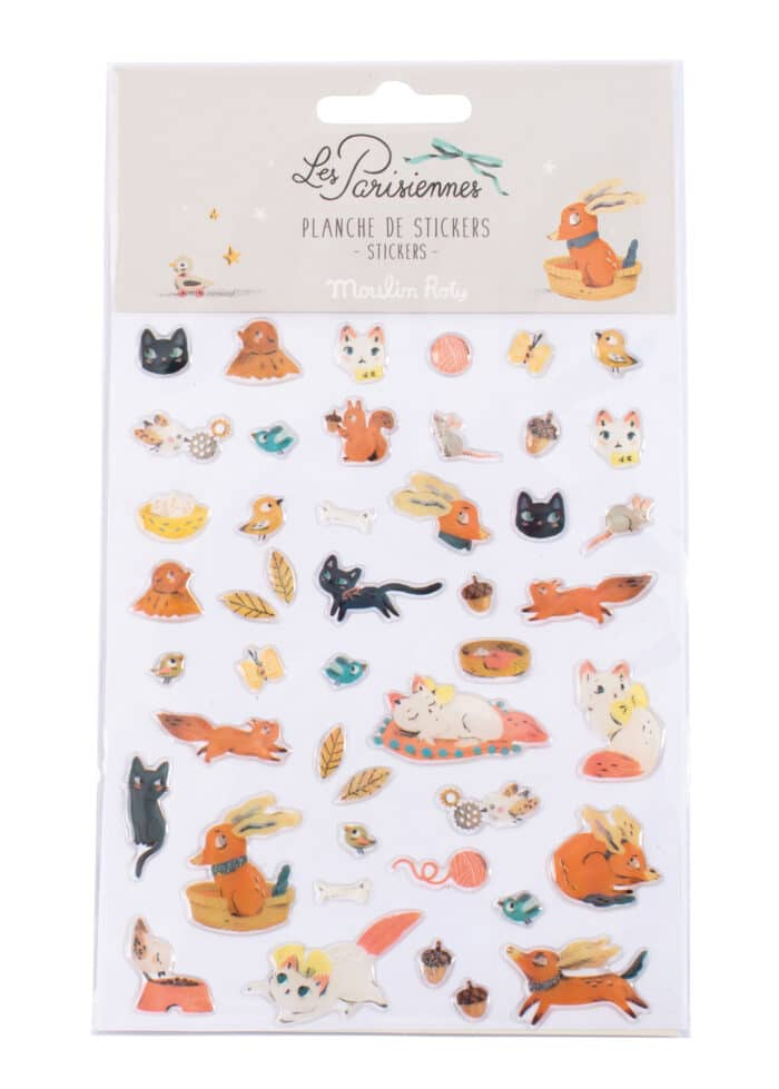 Sticker sheet of cat and dog motifs - Moulin Roty 642 557
