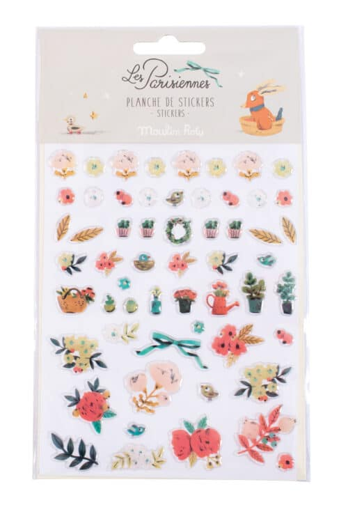 Sticker sheet of floral motifs - Moulin Roty 642 559