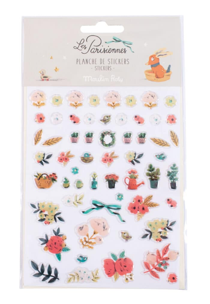 Sticker sheet of floral motifs - Moulin Roty 642 559