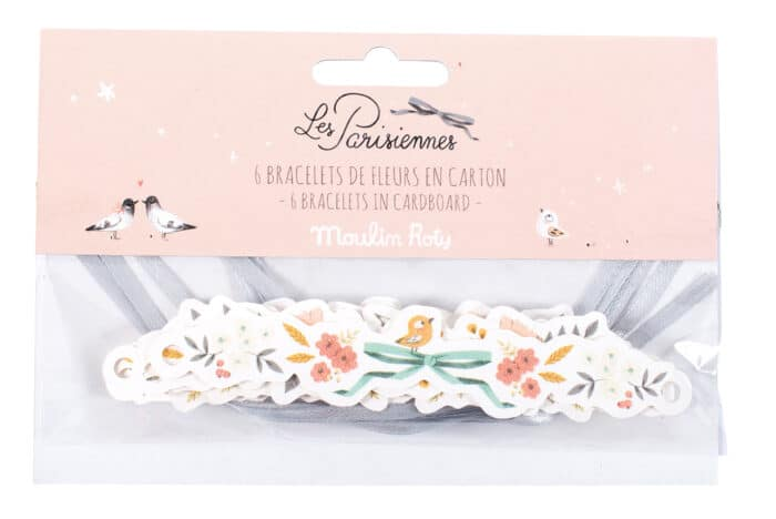 Set of 6 floral card bracelets - Moulin Roty 642 561