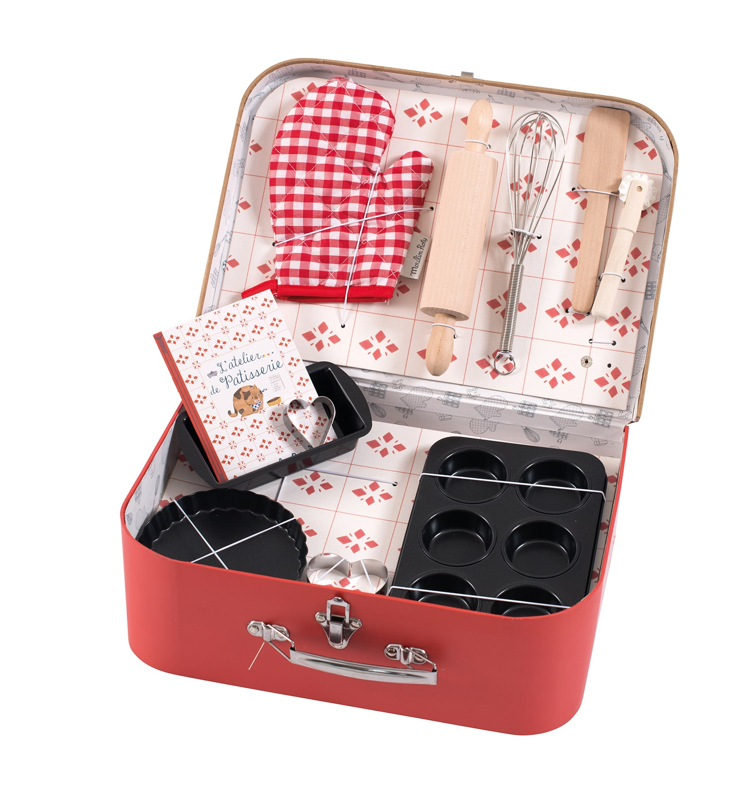 Suitcase of toy baking utensils - Moulin Roty 710 405