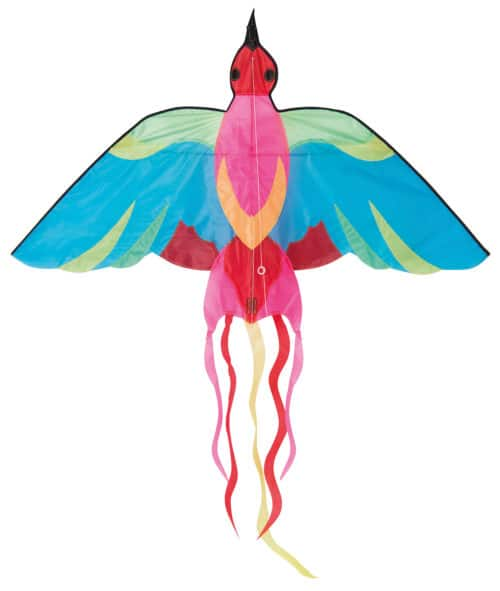 Colourful kite, in a bird shape with tail streamers - Moulin Roty 713 133