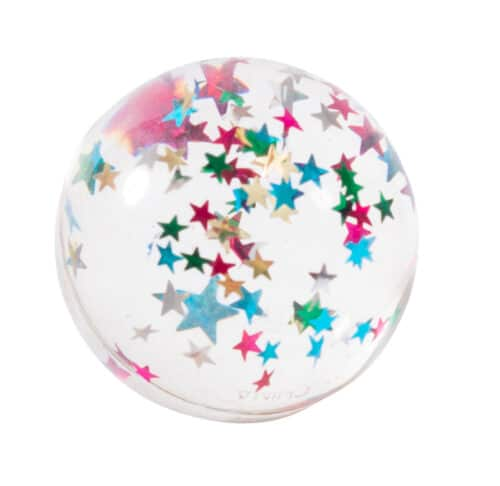 Clear bouncy ball with foil stars - Moulin Roty 713 138