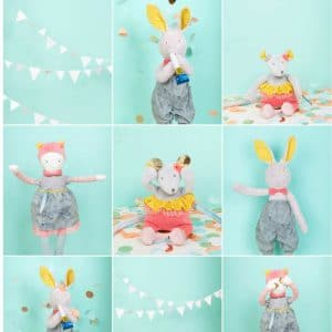 Moulin Roty soft toys and rabbits