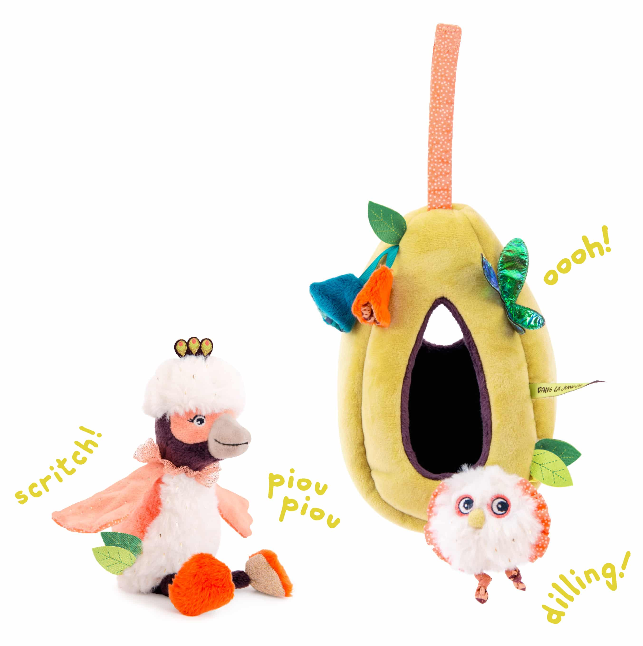 hanging nest activity toy jungle animals wholesale