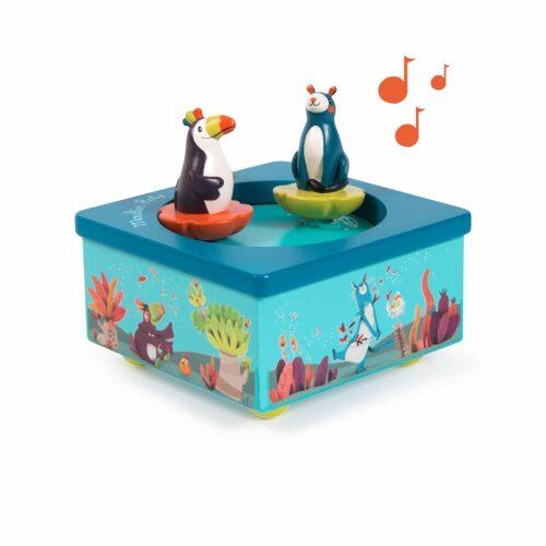 jungle animal musicc box