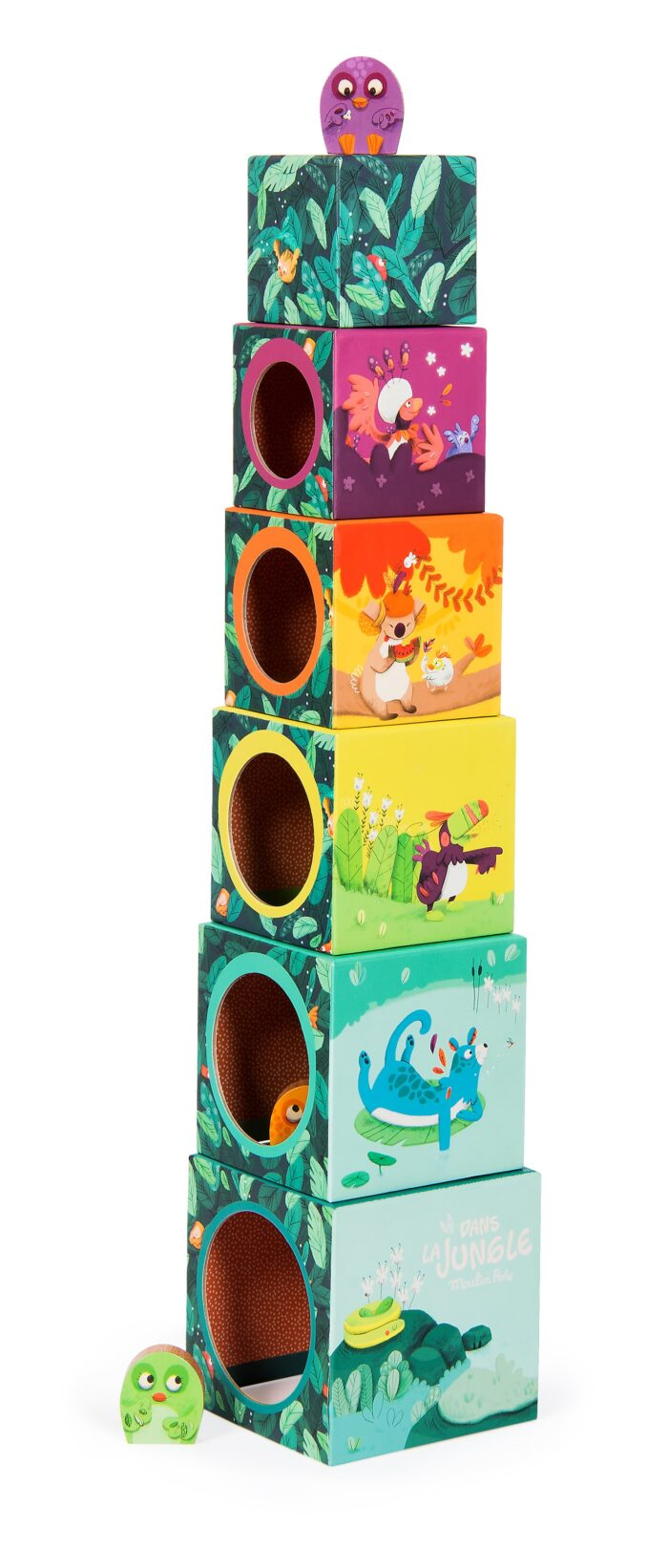 jungle animal stack up cubes - wholesale toys