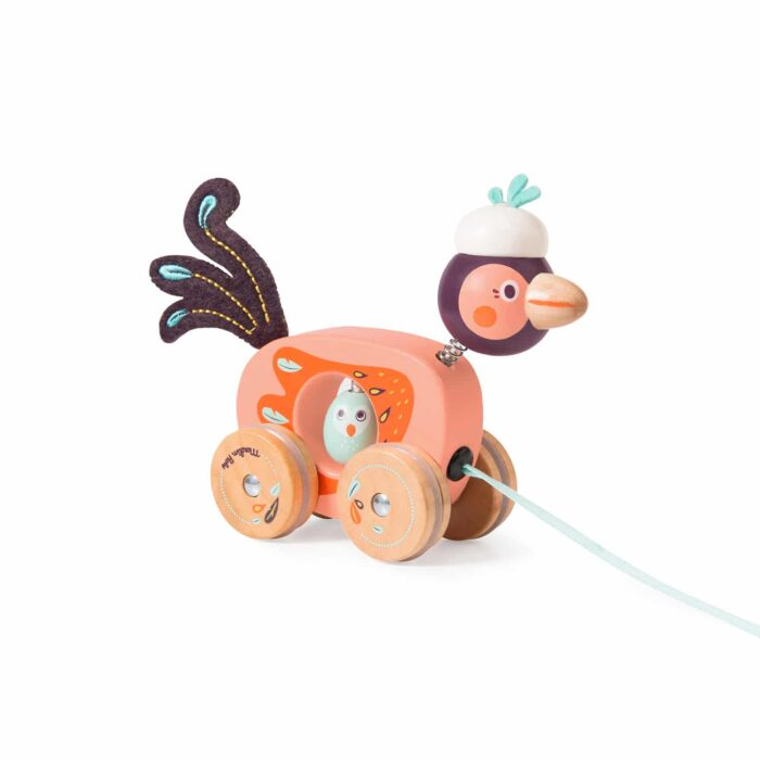 pull along wooden bird - wholesale
