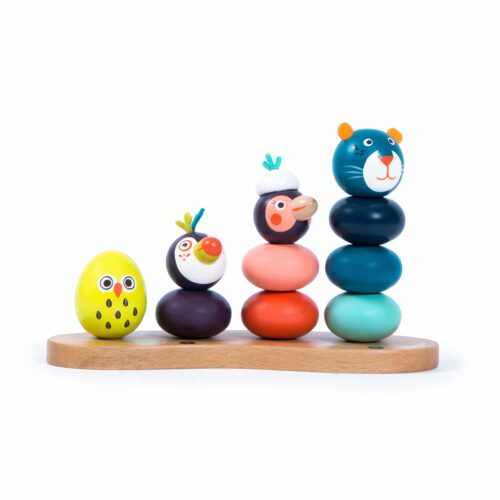 wooden stack up jungle animals - wholesale