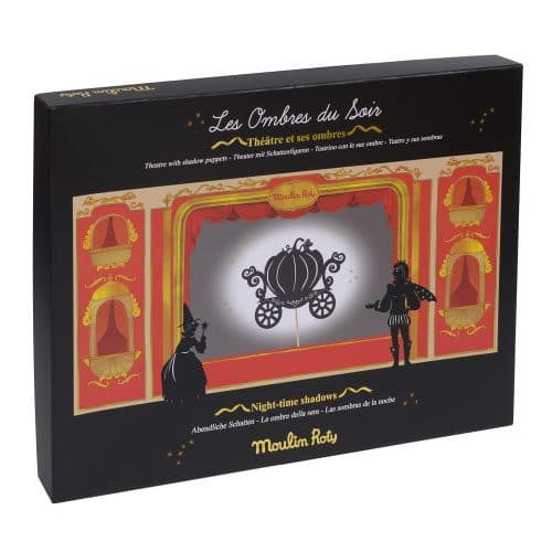 cardboard shadow puppet theatre