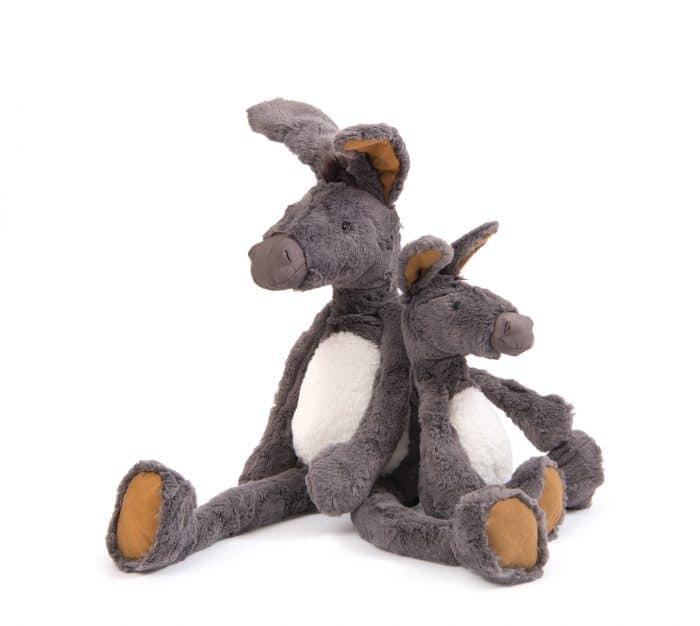 big and little donkey teddy bear - moulin roty