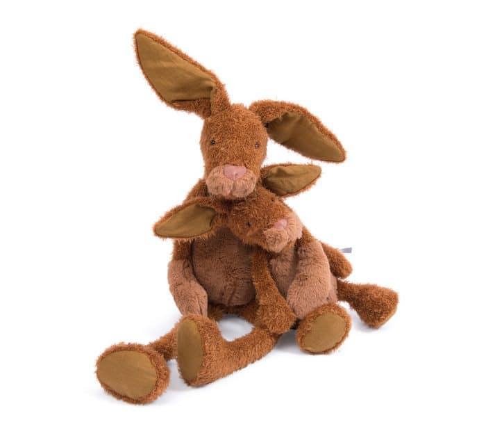 little and big rabbit dolls teddy bears - moulin roty