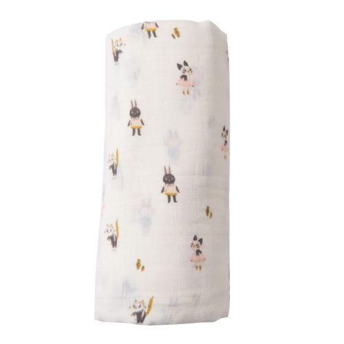 large muslin square - apres la pluie - baby bedding